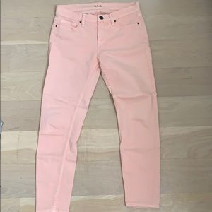 Urban Outfitter BDG salmon colored skinny jeans